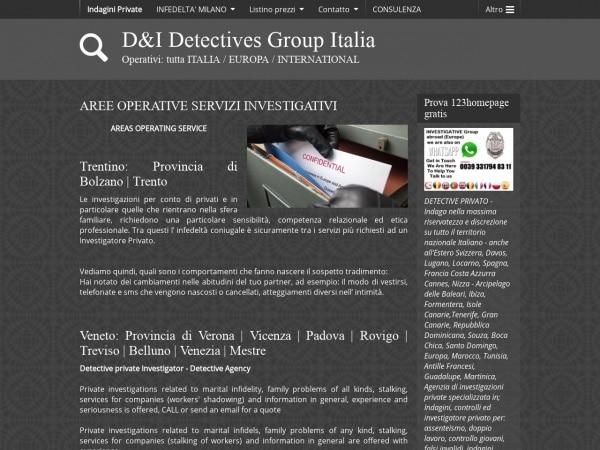 Investigazioni in Italia, Svizzera, Spagna, Francia e isole eseguite da detective italiano