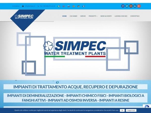 Simpec impianti trattamento acque