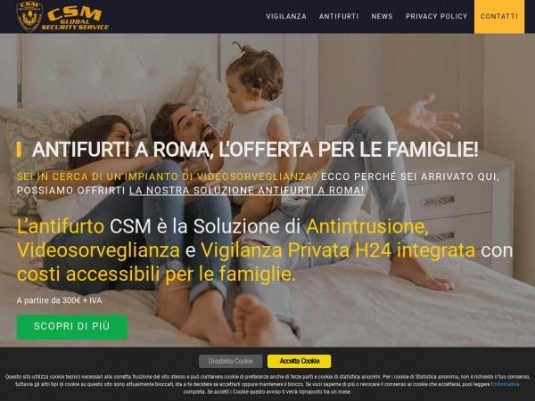 Antifurti Roma CSM Security